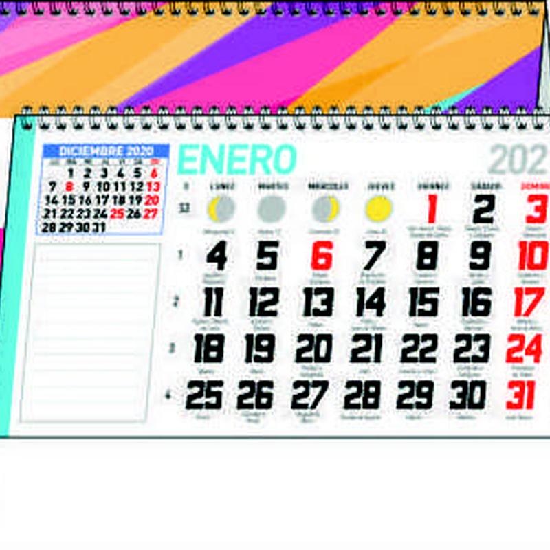 Ref. 42 - Sobremesa mensual notas: Nuestros Productos de Gráficas Kalendex