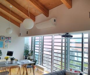 Obras realizadas de aire acondicionado / Vivienda particular
