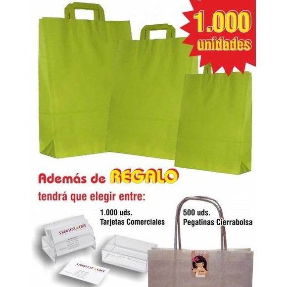 Lote 1000 bolsas asa plana de color: TIENDA ON LINE de Seriprint