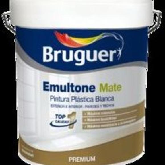 Pintura Plástica Blanca Interior - Exterior Bruguer: Servicios y productos de Hnos. Guerrero, S.L.