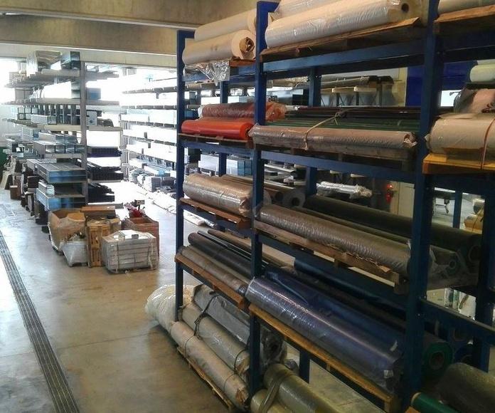 Fábrica Giesse Italia almacenaje lonas