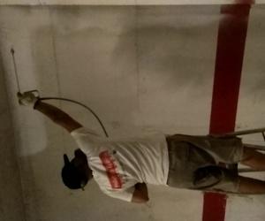 Pintados de garajes comunitarios  con máquinas