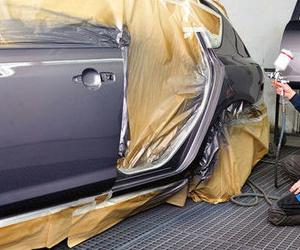 Taller de pintura del automóvil