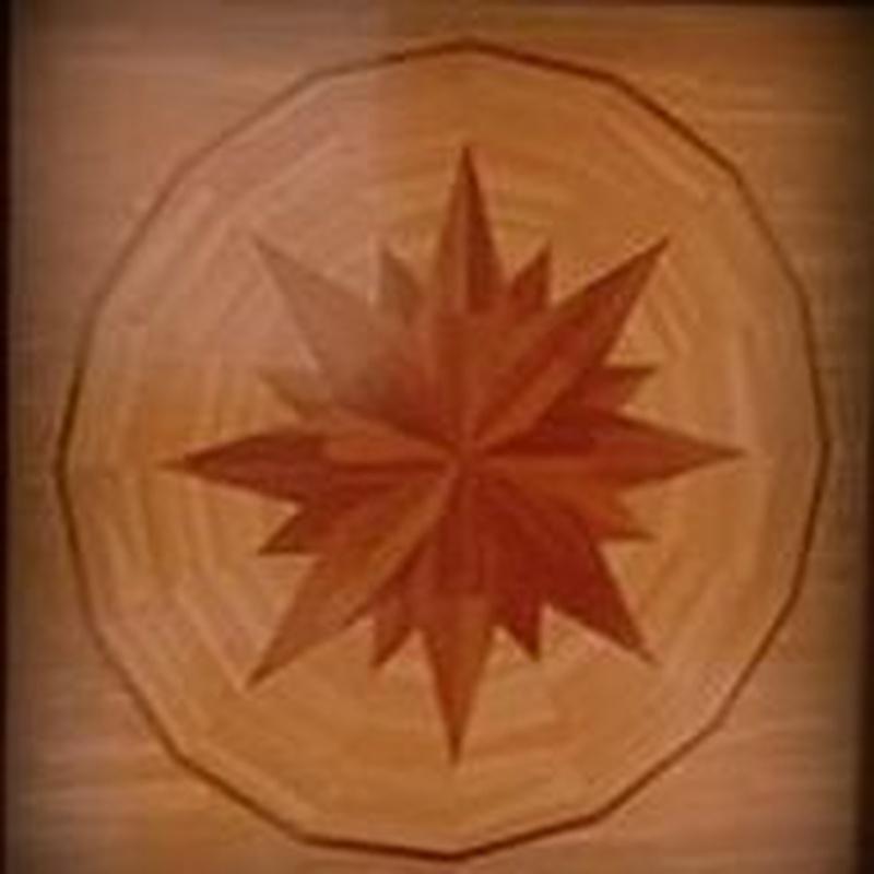 Estrellaen madera de Roble y Elondo