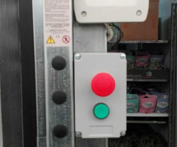 Puerta rápida de lona de pvc pulsador emergencia autorreparable