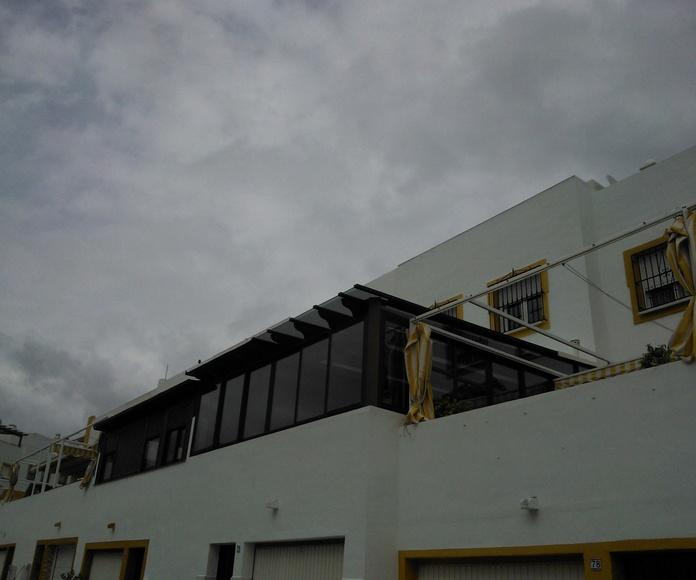 Cierre de terrazas: Catálogo de Aluminios Aludecor Marbella