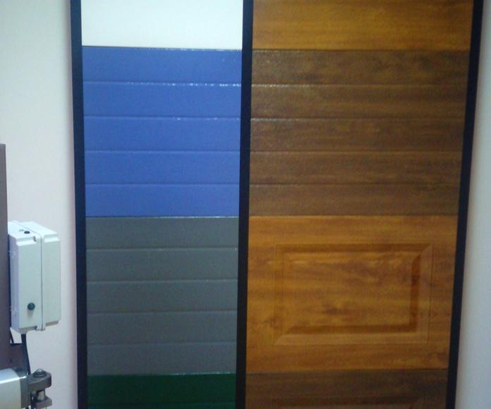 paneles seccional muestras