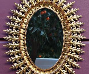 Espejo Forja y pan de oro   REF: ES100