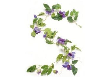 Guirnalda Clematis  Violeta / Azul