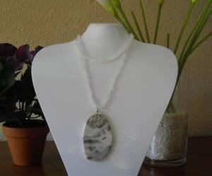 Jaspe orbicular con piedra de luna