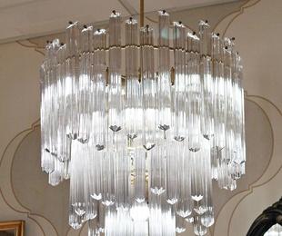 Chandelier cristal de murano realizada por Venini