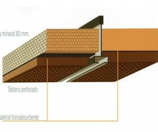 Absorción acústica de techos y revestimientos