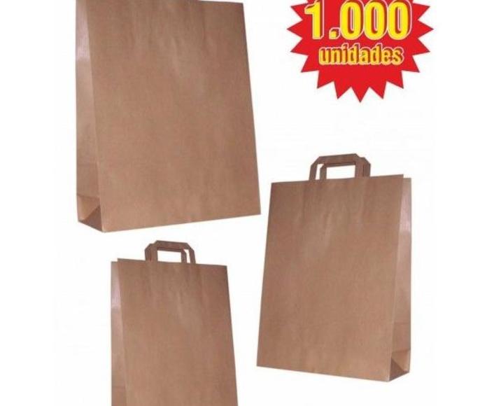 Lote 1000 bolsas asa plana Kraft: TIENDA ON LINE de Seriprint Serigrafia