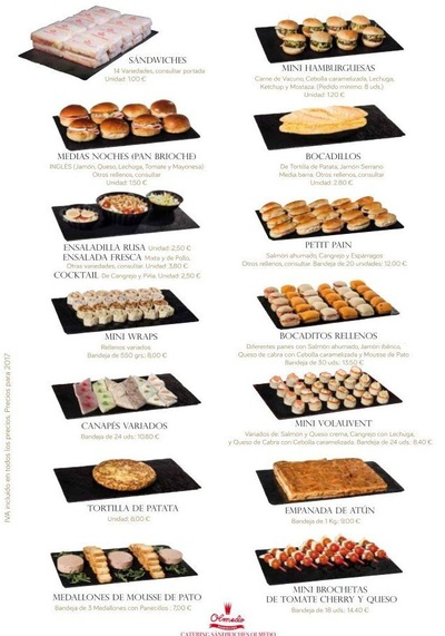Todos los productos y servicios de Panadería y Pastelería industrial: Catering Sándwiches Olmedo