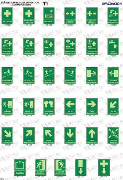 Señales evacuación luminiscentes: Servicios de Señalización y Serigrafía