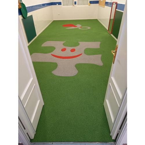 Diseño de pavimentos Garvel en un aula de la guardería municipal El Chupete de las Cabezas de San Juan