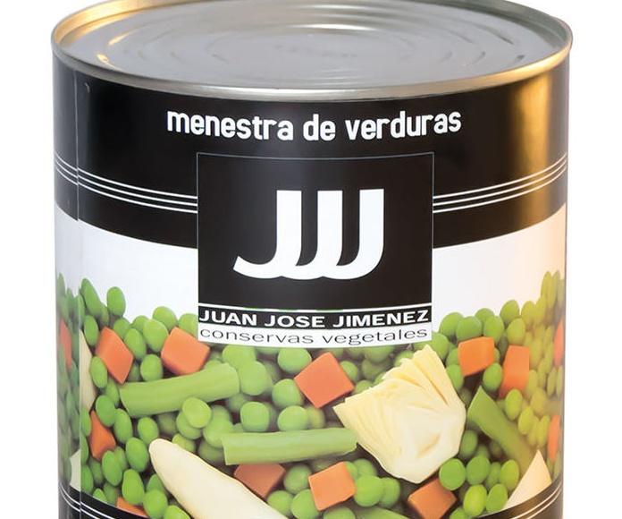 Menestra de Verduras Lata de 3 Kgs. Marca JJJ