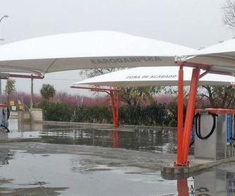 Carpas para centros de lavado: Servicios de Suministros Hispapress