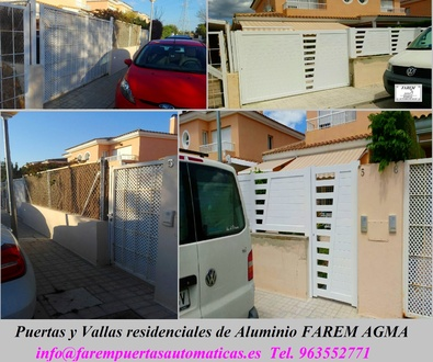 Puertas y Valla de Aluminio Blanco en San Antonio de Benageber Valencia