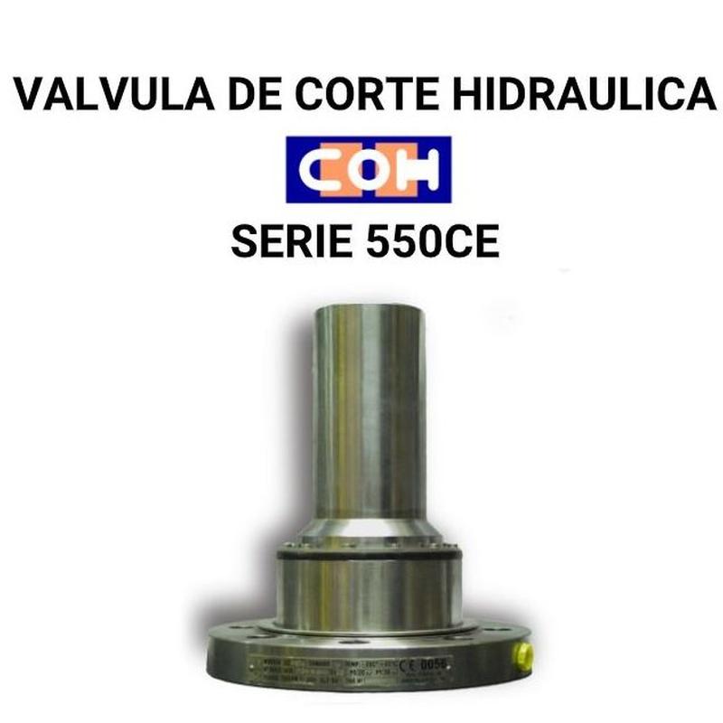 VÁLVULA DE CORTE HIDRAULICA COH SERIE 550CE