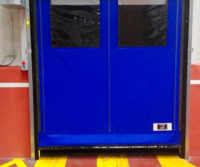 Puerta rápida enrollable autofull autorreparable Faremgies2