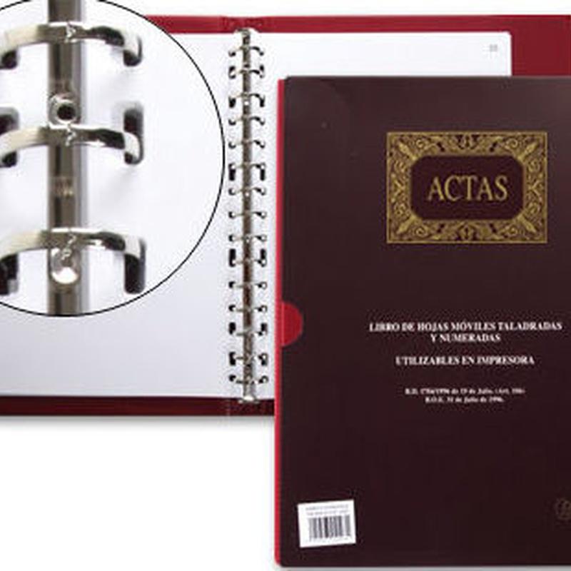 Libros de Actas con hojas móviles oreposicionables. Mikel Rius. Ref. 4102