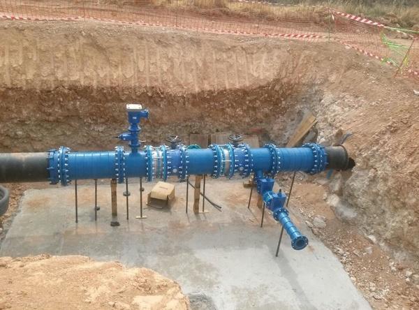 Cámara DN 500 mm (ventosa, válvulas, derivación y desagüe)