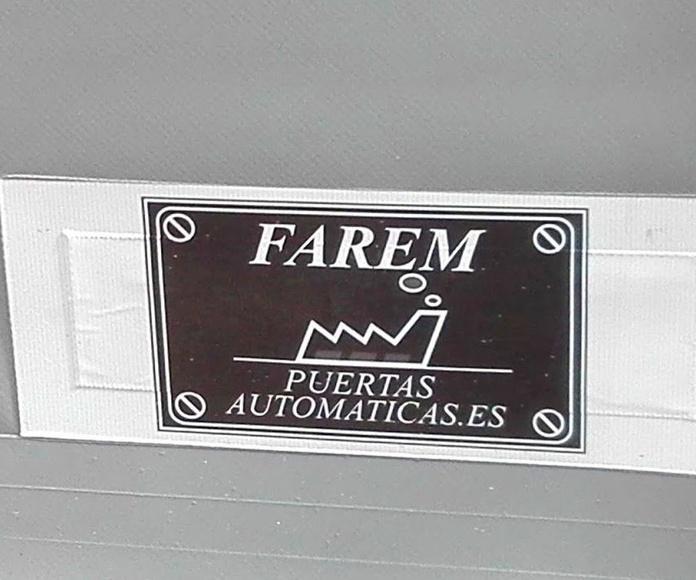 Puerta apertura rápida de lona enrollable autorreparable Farem auto full