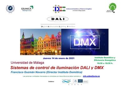 """14 Enero a las 16.30, síguenos en la Conferencia   """"SISTEMAS  DE CONTROL DE ILUMINACION DALI Y  DMX"""""""