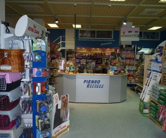 Pienso Express Arganzuela. Tienda de alimentación para animales en Madrid centro.
