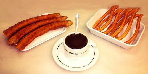 Porras, churros y chocolate