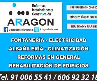 Instalaciones: Trabajos realizados de REFORMAS, INSTALACIONES Y CONSTRUCCION ARAGON