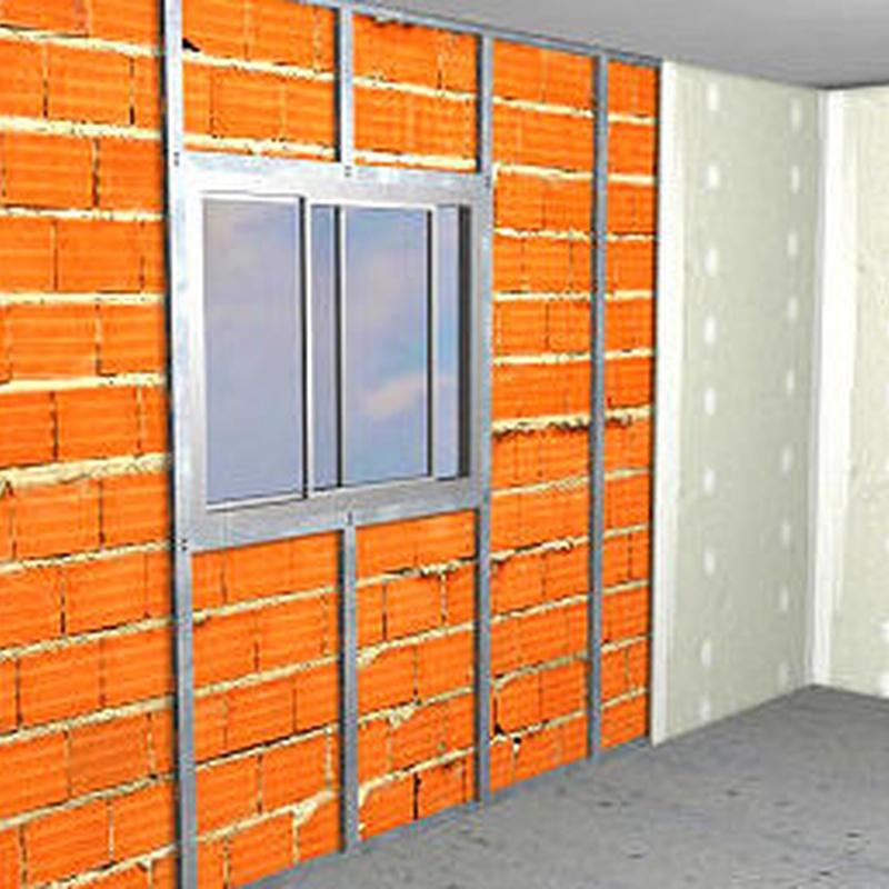 Trasdosado de paredes para la mejora del aislamiento térmico y acústico.