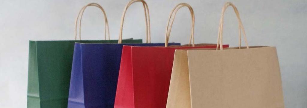 Bolsas de papel en el centro de Madrid