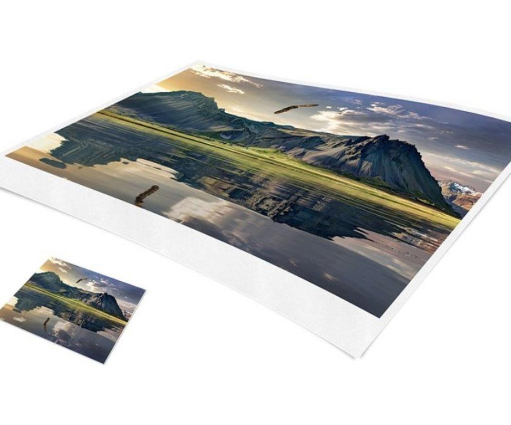 Para la impresión de tus fotografías ¿papel con brillo o mate?