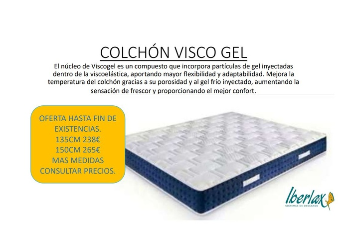 Colchon Visco Gel