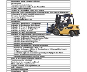 RENTING CATERPILLAR DP25N 2500 KG