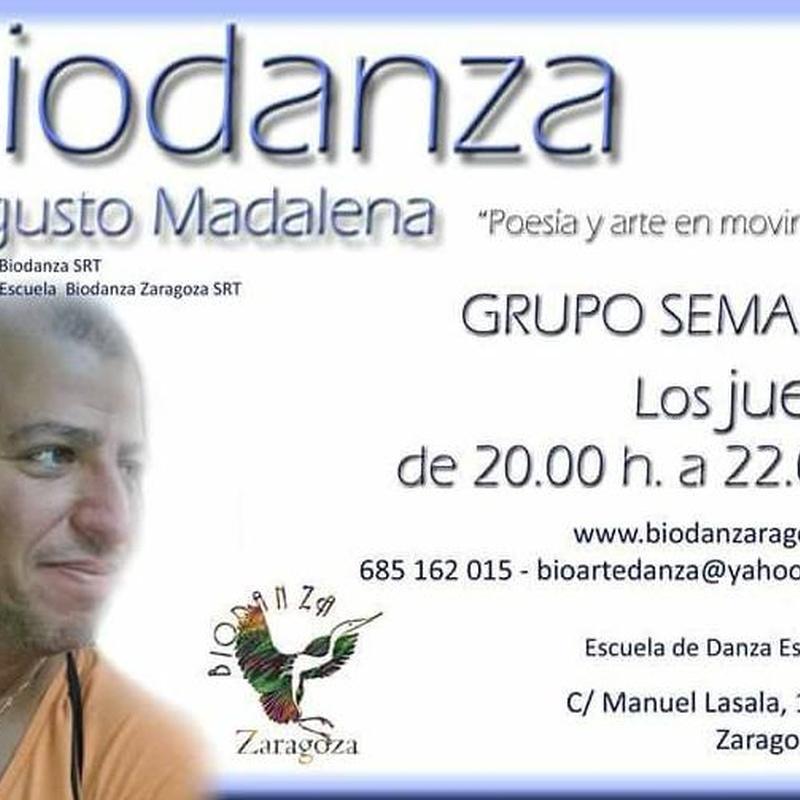 Grupos regulares semanales de Biodanza en Zaragoza y Logroño