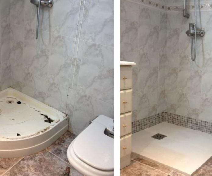 Cambio de bañera por plato de ducha: Trabajos realizados de Reformas Josemi Gallego