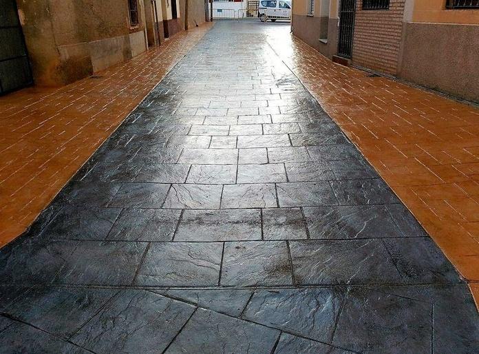 Hormigón impreso pizarra.: Pavimentos de hormigón de Pedro León Pulidos de Hormigón