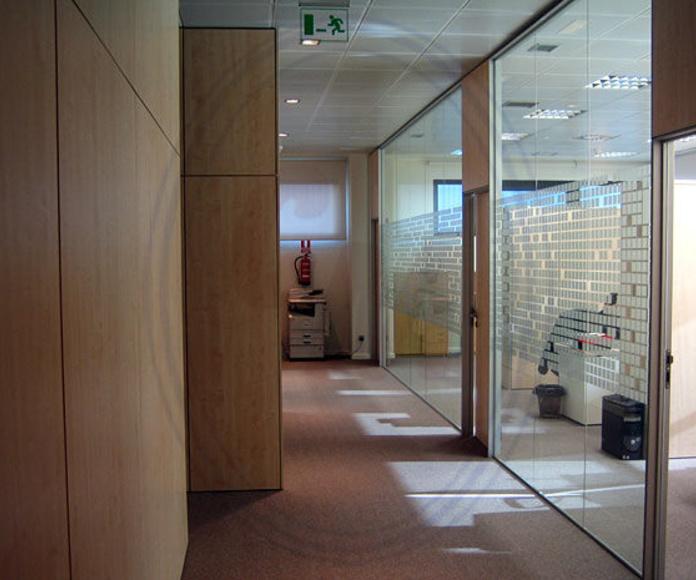 Acristalamiento de Mamparas de oficina Madrid: Productos  de Cristalera Madrileña