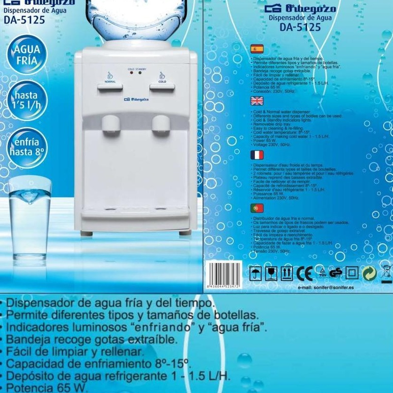 DISPENSADOR AGUA ORBEGOZO DA5125 (1-1,5/L) ---46€: Productos y Ofertas de Don Electrodomésticos Tienda online