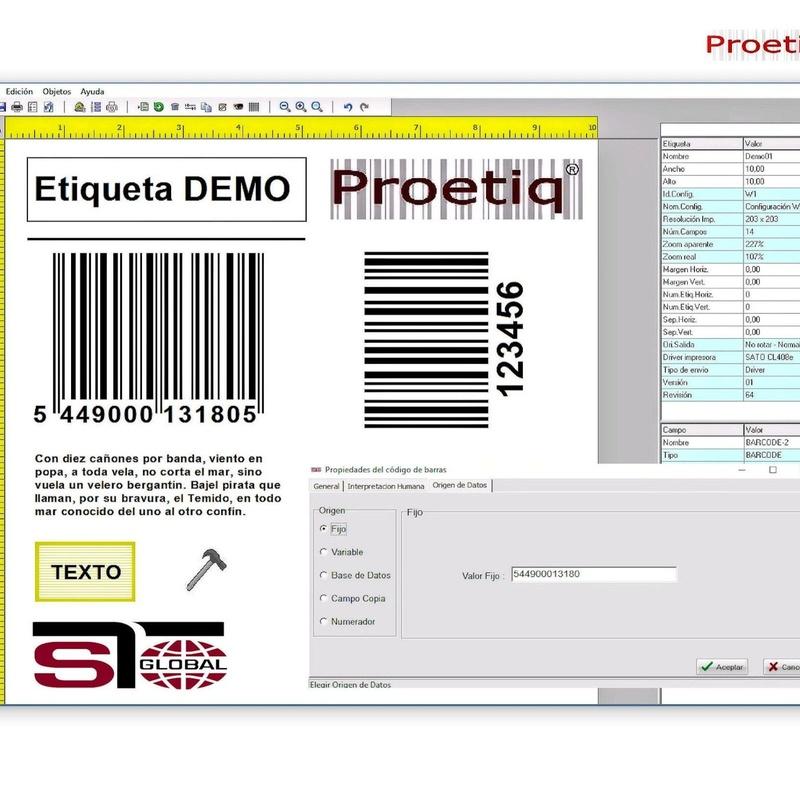 Software Etiquetado: ProEtiq ®: Productos y Servicios de STGlobal - Identificación y Etiquetado