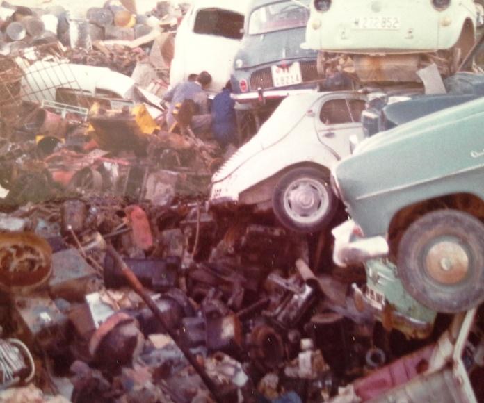 Chatarras Clemente en Vereda de Jaen de Albacete en los años 80