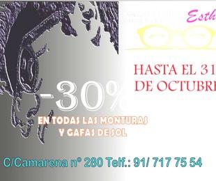 30% DTO. EN MONTURAS Y GAFAS DE SOL