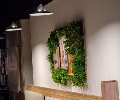 Jardín vertical artificial, en bastidor para tiendas MAXCOLCHON