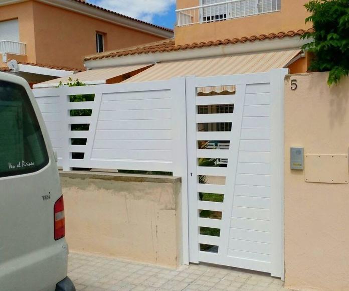 Puertas y Valla de Parcela de Alumino Blanco9 FAREM AGMA