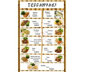 Platos de Teppanyaki