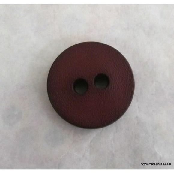 Botón granate / cuero / negro: Productos de Mar de Hilos