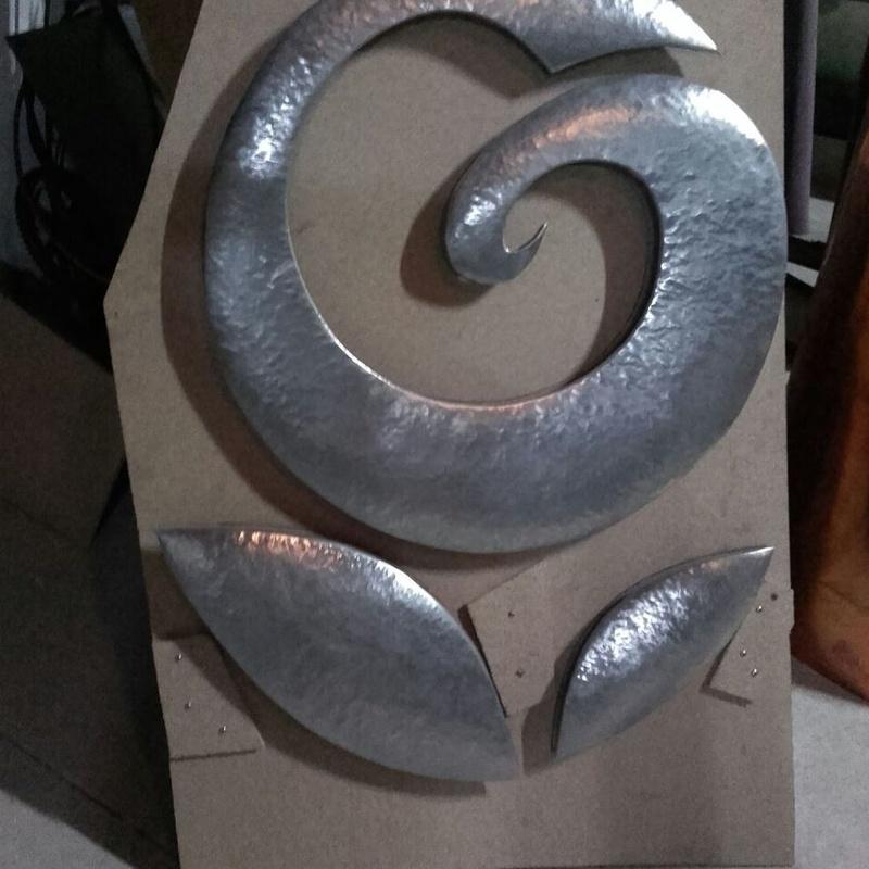 Logotipo en zinc para Viveros Guzman Alhaurín de la Torre